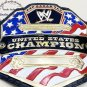 United States Wrestling Championship Belt 4mm Zinc Plates With Leather Strap