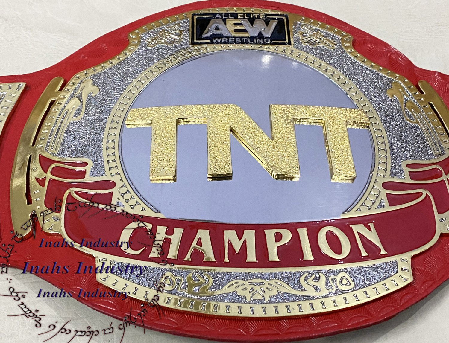 AEW TNT Championship Title Wrestling Leather Belt 4mm Brass Thickness Plates