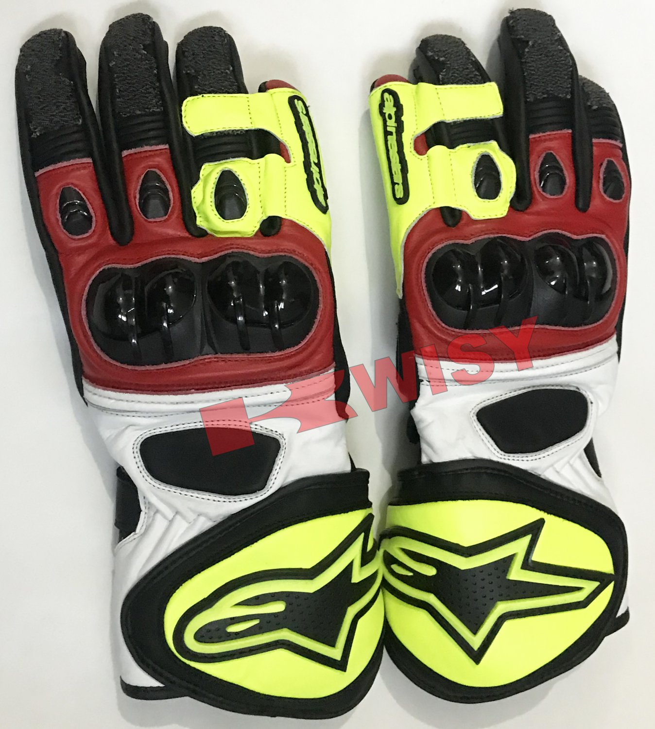 Top Quality Motorbike Original Leather Gloves full Protected
