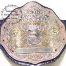 WWE Big Gold World Heavyweight Wrestling Championship Belt 4mm Zinc Dual Plated