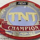 AEW TNT Championship Title Wrestling Leather Belt 2mm Brass Thickness Plates