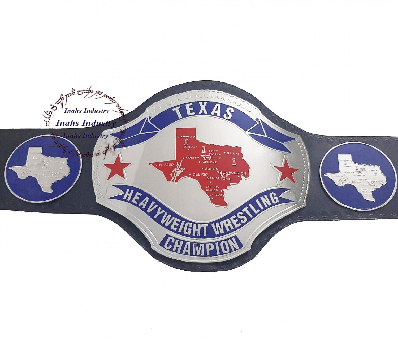TEXAS Heavyweight Wrestling championship belt 2mm Brass Thickness Plates