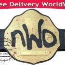 WWE NWO Spray Paint Championship Replica Title Leather WCW Belt Brass 2mm