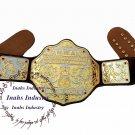 NWA Big Gold Heavyweight Championship Belt Replica,Dual Plating Adult Size Belts