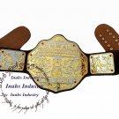 NWA Big Gold Heavyweight Championship Belt Replica,Dual Plating Adult Size Belt 4mm Zinc