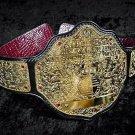 WWE Big Gold World Heavyweight Wrestling Championship Replica Belt WCW 4mm Brass Plates