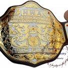 NWA Big Gold Heavyweight Championship Belt Replica,Dual Plating Adult Size Belt 4mm Brass