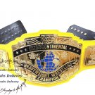 WWF Intercontinental HeavyWeight Championship Replica Wrestling Belt Yellow Leather Strap 4mm Zinc