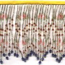 "Beaded fringe 38"" width scallop wave bugle and beads f03s *free shipping"