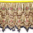 "Beaded fringe 38"" width scallop wave bugle and beads f04g *free shipping"