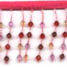 "Beaded fringe 72"" width flat bottom glass beads or acrylic  f09p *free shipping"