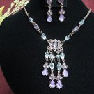 wedding jewelry bridal accessories alloy floral necklace set KC590pu *FREE SHIPPING