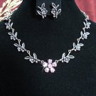 wedding jewelry bridal accessories alloy floral necklace set KC603c *FREE SHIPPING