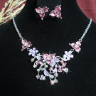 wedding jewelry bridal accessories alloy floral necklace set KN752P  *FREE SHIPPING