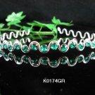 Bride wedding tiara bridesmaid jewelry accessories silver serpent crystal green headband band K174GR