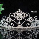 wedding tiara bride bridesmaid accessories handmade silver alloy crystal pearl imperial comb 537