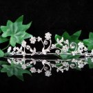 Bride bridesmaid wedding tiara accessories crystal alloy regal imperial comb 531