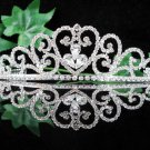 wedding tiara bride bridesmaid accessories crystal sweetheart regal imperial comb 011S