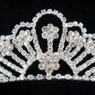 Ice sparkle wedding tiara bridal accessories,crystal regal imperial comb 542S