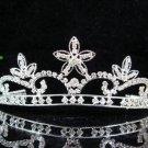 Bride bridesmaid wedding tiara accessories ,floral crystal headpiece regal imperial comb 665S