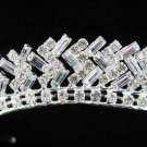 Bride bridesmaid wedding tiara accessories ice sparkle bugle crystal regal imperial comb 1561S