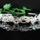 wedding tiara bride bridesmaid hair accessories crystal pearl floral headband comb 599S