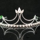 wedding tiara bridal accessories, crystal silver filigree headpiece,handmade regal comb 0991