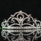 wedding tiara bridal accessories crystal silver headpiece ,huge new regal imperial comb 8753
