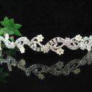 wedding tiara bridal accessories silver crystal headband,serpent alloy regal imperial comb 5910S