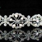 wedding tiara bridal accessories ,silver crystal headband ,regal imperial comb JCN058