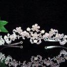 wedding tiara bridal accessories,handmade alloy crystal headpiece,silver regal imperial comb K697