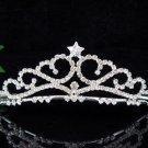 wedding tiara handmade swarovski bridal accessories,silver crystal headpiece regal imperial comb 289