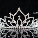 wedding tiara bridal accessories silver crystal headpiece,handmade regal imperial comb 604