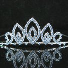 Bridal accessories wedding hair tiara crystal ,swarovski blue headpiece regal imperial comb cn76