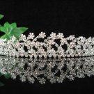 Bridal accessories wedding tiara crystal alloy headpiece,silver handmade regal imperial comb S1515