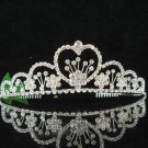 Bridal accessories wedding hair tiara crystal headpiece,sweetheart silver regal imperial comb 0519