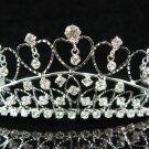 Bridal accessories wedding tiara,sweetheart silver crystal headpiece regal imperial comb SJ0770S
