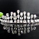 Bridal accessories; wedding hair tiara ;handmade silver crystal headpiece imperial; comb 3587