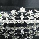 Bridal accessories; wedding hair tiara ;handmade silver crystal headpiece imperial; comb 7275