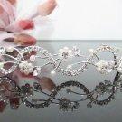 Bridal accessories; wedding hair tiara ;handmade silver pearl crystal headband 4814