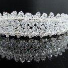 Bridal accessories; wedding hair tiara ;handmade crystal headpiece imperial headband 8719