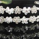 Bridal accessories; wedding hair tiara ; handmade crystal headpiece headband 8958
