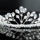 Bridal accessories; wedding hair tiara handmade silver crystal headpiece imperial; comb 9027