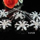 6 pc handmade Wedding accessories;bridal headpiece;bridesmaid silver floral hairpin 4-2124