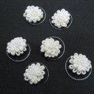 6 pc handmade Wedding accessories;bridal white hairpin bridesmaid tiara floral curly pin HP26i