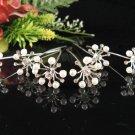 6 pc Wedding hair accessories;bridal handmade hairpin bridesmaid floral pearl veil pin 1529w