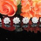 6 pc Wedding hair accessories;bridal handmade floral hairpin bridesmaid alloy floral veil comb F1348