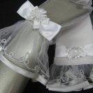 Wedding accessories handmade gloves; bridal accessories veil; lady wrist organza short glove 45w