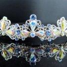 Bridal accessories; wedding hair tiara;headpiece; alloy swarovski ab handmade imperial cn72021