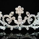 Bridal handmade accessories; wedding tiara;rhinestone headpiece;sparkle crystal regal j294